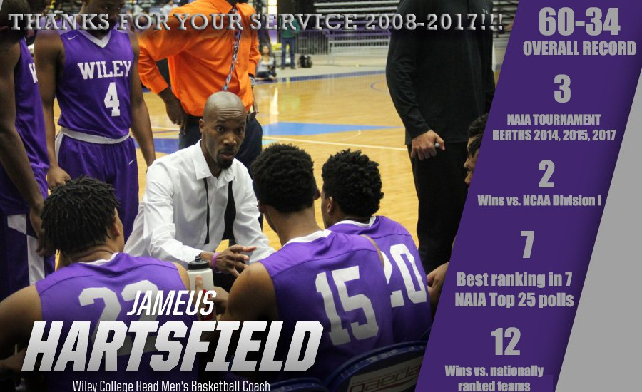 Jameus Hartsfield helped the Wildcats to 3 NAIA Tournament Berths as a head and assistant coach.