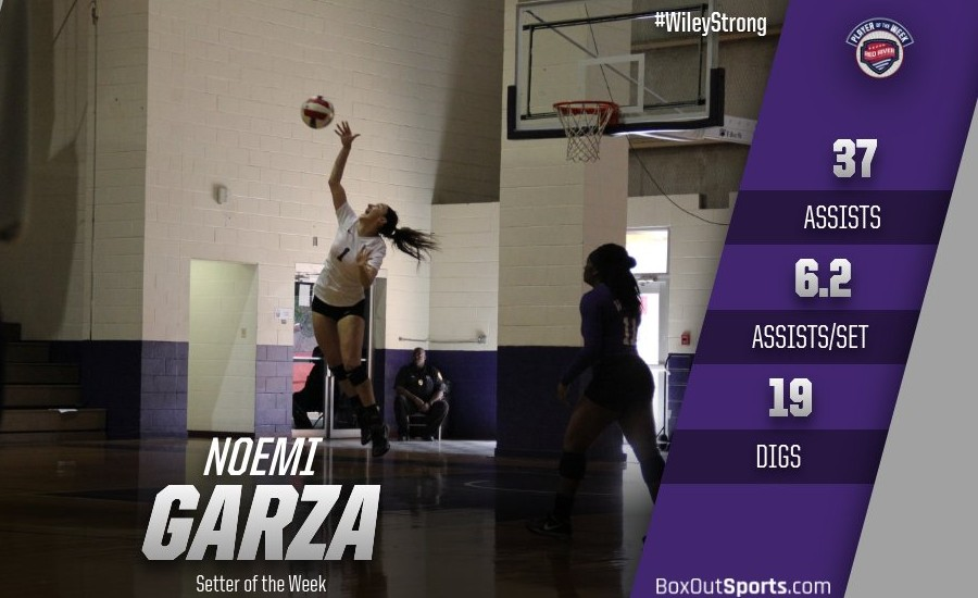 Noemi Garza averaged 6.2 assists per set last week.