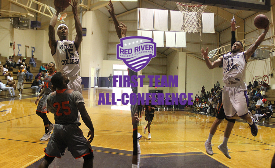 Ricardo Artis and George Page represent the Wildcats on the Red River Athletic Conference All-Conference First Team