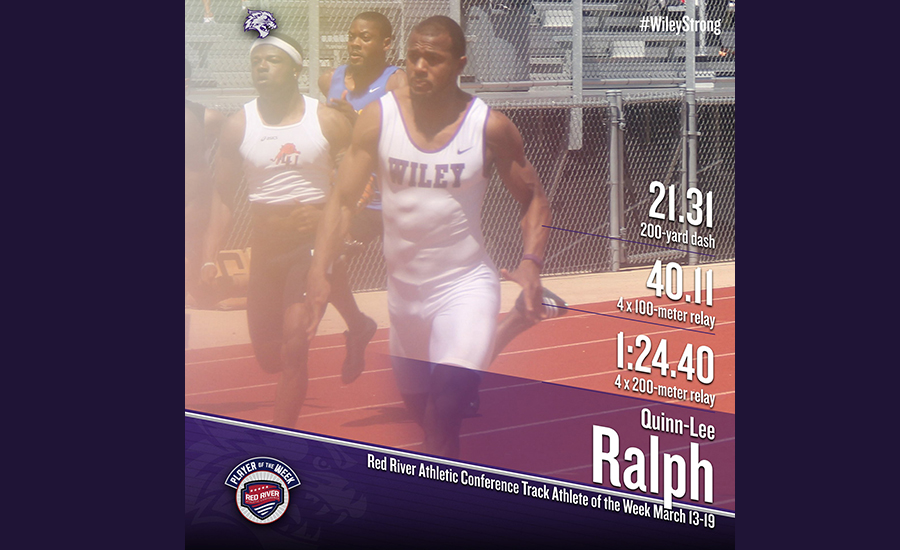 Quinn-Lee Ralph qualified for the NAIA Championship in the 200-meter dash