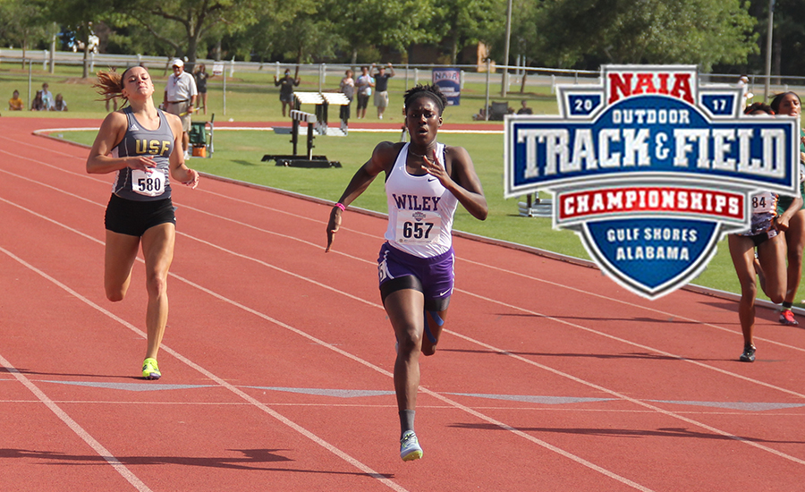 Natasha Poleon earned All-American in four events.