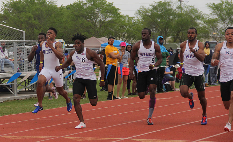 The Wildcats finished in the top three in the 200-meter dash.
