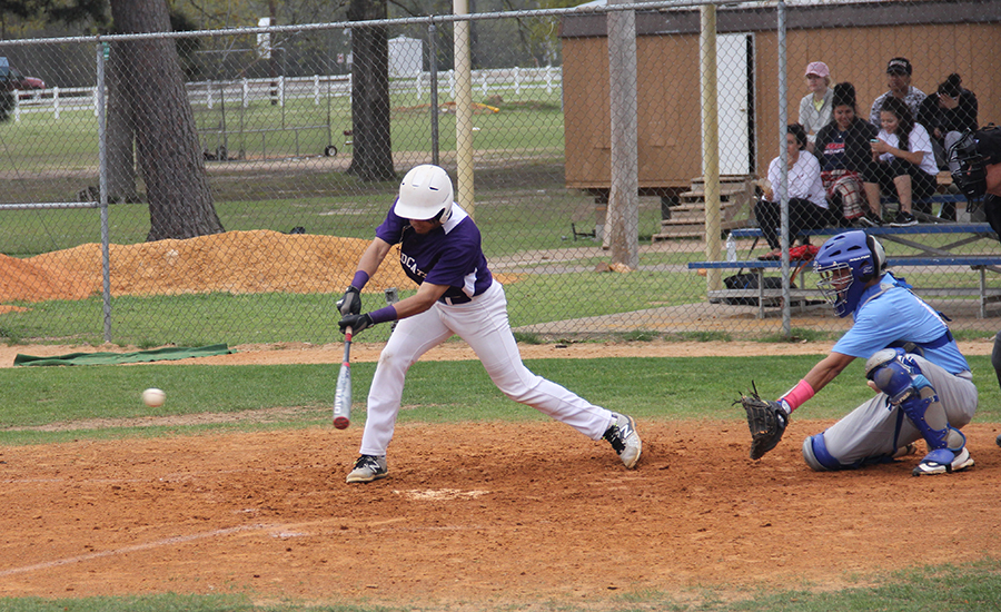 Luis Santiago picked up two of Wiley College's four hits