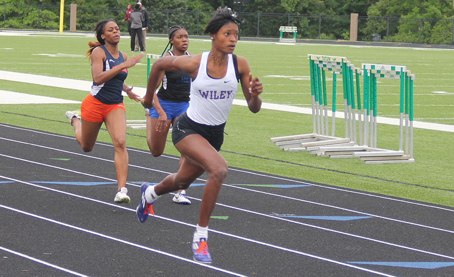Taishia Pryce ran in the 100-meter and 200-meter dashes.