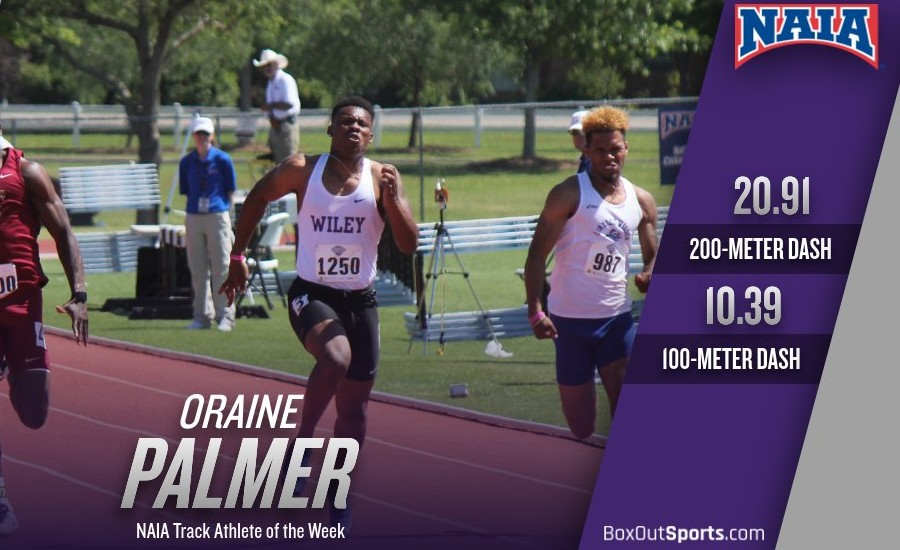 Wiley College - Palmer wins NAIA Track Athlete of the Week