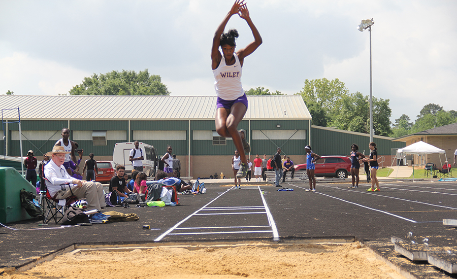Wiley College - Pryce wins long jump section at Texas Relays